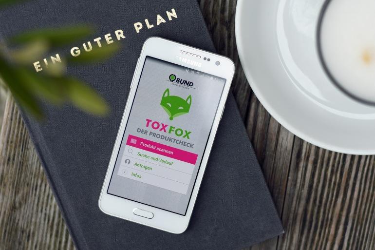 Tox Fox App, Apps für mehr Nachhaltigkeit im Alltag, nachhaltige Apps, Öko Apps, Codecheck, TooGoodToGo